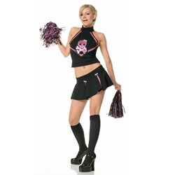 Dress Up America Women's X-Small 2-piece Morbid Cheerleader Costume