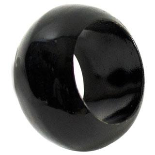 Plastic Black Napkin Rings (Pack of 12)
