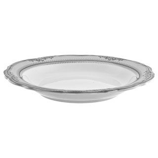 10 Strawberry Street Vanessa Platinum 9-inch Rim Soup Bowls (Set of 6)