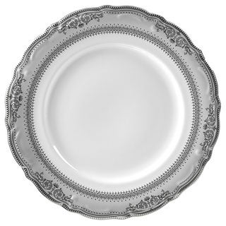 "10 Strawberry Street Vanessa Platinum 10.5"" Dinner Plate (Set of 6)"