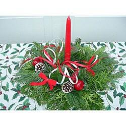 Fresh Balsam Holiday Centerpiece