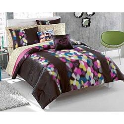 roxy madison 9 piece full size bed in a bag with sheet set free shipping today. Black Bedroom Furniture Sets. Home Design Ideas
