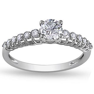 Miadora Signature Collection 14k White Gold 3/4ct TDW Diamond Engagement Ring