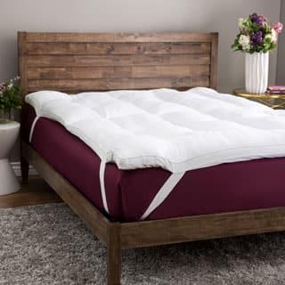 SwissLux Deluxe Cotton 3-inch Memory Foam and Fiber Blend Mattress Topper|https://ak1.ostkcdn.com/images/products/P13261440jt.jpg?impolicy=medium