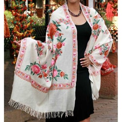 Wool 'Spring Valley' Shawl (India)