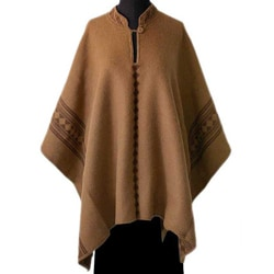 'Andean Earth' Alpaca Wool Reversible Poncho (Peru)