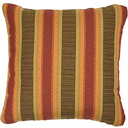 Autumn 18-inch Knife-edged Indoor/ Outdoor Pillows with Sunbrella Fabric (Set of 2)