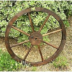 Cedar Wagon Wheel Garden Decoration