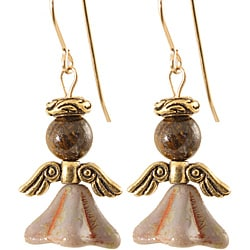 Gold 'Bold and Jubilantly Bronze' Angel Earrings