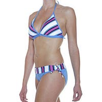 Jag Women's Reversible Triangle Top Retro Bottom Swimsuit