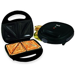 Better Chef IM-284B Black Sandwich Panini Maker Compact Grill