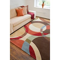 Mayflower Multicolored Wool Handmade Contemporary Geometric Area Rug