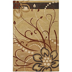 Hand-tufted Whimsy Beige Wool Rug (5 'x 8')