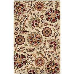 Hand-tufted Whimsy Ivory Wool Area Rug (5' x 8') - Thumbnail 0
