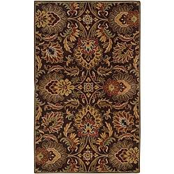 Hand-tufted Coliseum Chocolate Wool Rug (5' x 8') - Thumbnail 0