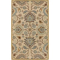 Hand-tufted Beige Wool Area Rug (5' x 8')