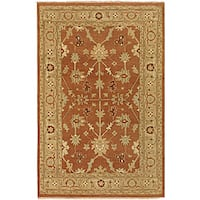 Hand-knotted Halmstad Rust-brown Wool Area Rug (3'9 x 5'9)
