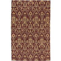 Hand-knotted Valence Wine Wool Area Rug (5' x 8') - 5' x 8'