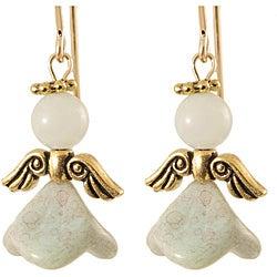 14k Gold Fill 'Angel of Serenity' Amazonite Earrings