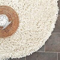 Safavieh Classic Ultra Handmade Ivory Shag Rug - 6' x 6' Round