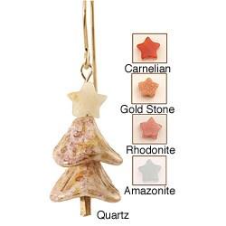 14k Gold Fill Gemstone 'Glistening Moonlight' Holiday Earrings