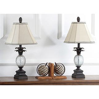 Safavieh Lighting 24-inch Antiqued Bronze Pineapple Table Lamps (Set of 2)