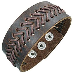 Genuine Leather Dark Brown 'Balance' Bracelet