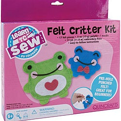 Learn To Sew 'Frog' Felt Critters Kit
