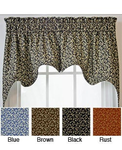 Ellis Curtain Tremblay Empress Valance 2-piece Swag Set