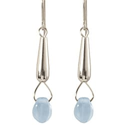 Sterling Silver 'Rain Drop' Dangle Earrings