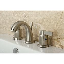 NuvoFusion Goose Neck Mini-widespread Satin Nickel Bathroom Faucet