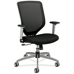 HON Boda Series Black High-Back Padded Mesh Work Chair