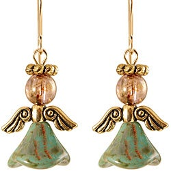 14k Gold Fill 'Angels of Abiding Love' Glass Earrings