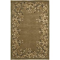 Hand-knotted Neoteric Brown Wool Area Rug (8' x 11')