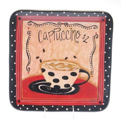 Certified International Coffee Cafe Square Platter