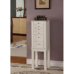 Winter White 5-Drawer Jewelry Armoire