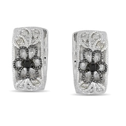Miadora Sterling Silver 1/10ct TDW Diamond Earrings (G-H, I2-I3)