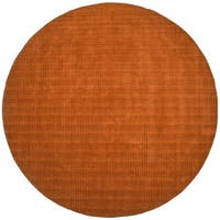 Hand-tufted Pulse Orange Wool Rug (6' Round) - 6' x 6'