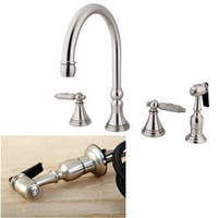 Governor Widespread Satin Nickle Kitchen Faucet