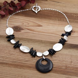 Silverplated 'A Million Stars' Blue Goldstone Necklace