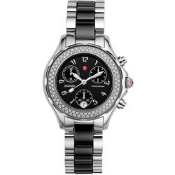 Michele Women's Tahitian Black Ceramic Diamond Watch