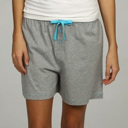 Leisureland Women's Knit Gray Boxer Shorts