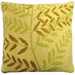 Willow Hooked Wool Pillow