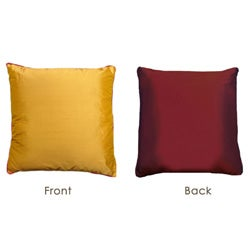 Red to Gold Reversible Silk Pillow