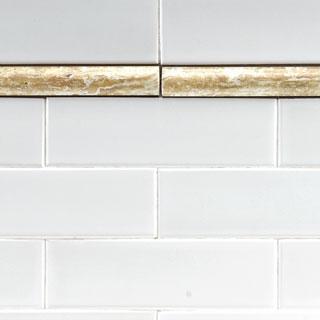SomerTile 1x8-in Marbleized Moldura Pencil Ceramic Trim Tile (Pack of 12)