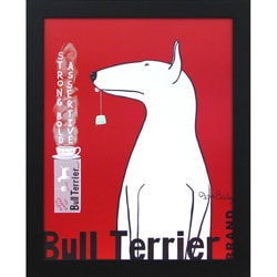 Ken Bailey 'Bull Terrier Tea' Framed Wall Art