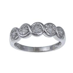 Kabella 10k White Gold 1/3ct TDW Diamond Ring (I-J, I2-I3)