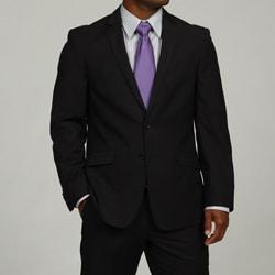 Shop Kenneth Cole Reaction Mens Navy Stripe 2 Button Suit