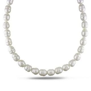 Miadora Signature Collection White South Sea Pearl and Diamond 18-inch Necklace (11-13 mm)
