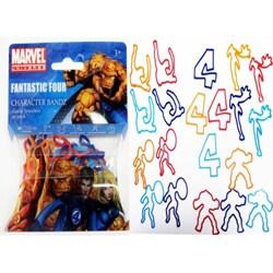 Character Bandz 'Marvel: Fantastic 4' Characters Shaped Silicone Kids Bracelets (2 packs).